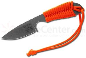 White River Knives Backpacker Fixed 3.25 inch S30V Stonewashed Blade, Orange Paracord Handle, Kydex Sheath
