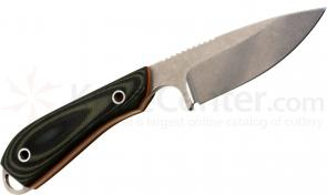 White River Knives Caper Fixed 3 inch S30V Blade, Smooth Green G10 Handle, Kydex Sheath