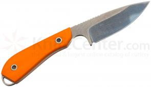 White River Knives Caper Fixed 3 inch S30V Blade, Smooth Orange G10 Handle, Kydex Sheath