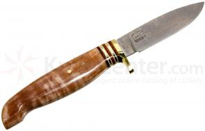 White River Knives Drop Point Hunter Fixed 3.25 inch 52100 Carbon Blade, Tiger Stripe Maple Handle, Kydex Sheath