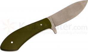 White River Knives Jerry Fisk Sendero Bush Knife 3.25 inch S30V Blade, Smooth OD Green G10 Handle, Leather Sheath