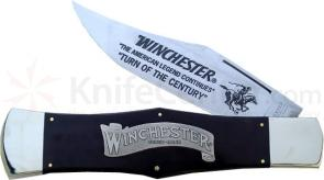 Winchester Large 11 Inch  inchTurn Of The Century inch Folder Black Micarta
