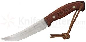 Woodman's Pal Outdoor Cook's Knife  5-3/4 inch Carbon Blade, J. Wayne Fears Signature Etched Ash Handles