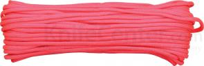 550 Paracord, Hot Pink, Nylon Braided, 100 Feet