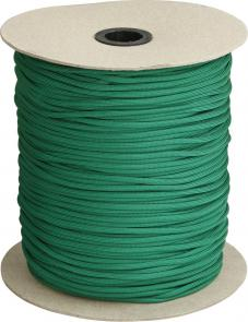 550 Paracord, Green, Nylon Braided, 1000 Feet Roll