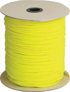 550 Paracord, Neon Yellow, Nylon Braided, 1000 Feet Roll