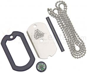 The Original Dog Tag 4 in 1 Survival Knife, Rescue Mirror, Fire Starter, Compass