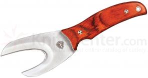 Field Torq Viscerator 3-1/2 inch Gut Hook Style Blade, Hardwood Handle, Leather Sheath