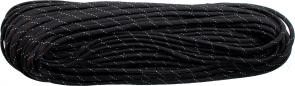 550 Paracord, Black Reflective with Silver Tracer, Nylon Braided, 100 Feet
