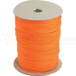 550 Paracord, Neon Orange, 1000 Feet Roll