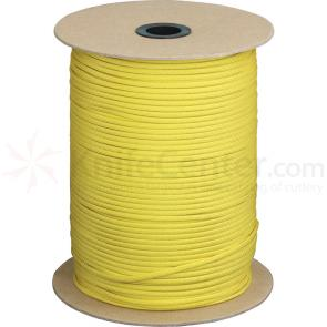550 Paracord, Yellow, Nylon Braided, 1000 Feet Roll