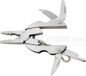 Compact Mini Multi-Tool 2 inch Closed, All Stainless Construction