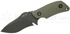 Zero Tolerance Model 0121 Fixed 4-1/4 inch S30V Blade, Ranger Green G10 Handles