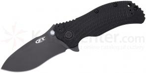 Zero Tolerance Model 0300 Assisted 3.75 inch S30V Plain Black Blade, Black G10 and Titanium Back Handles
