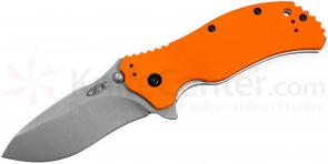 Zero Tolerance Model 0350OR Assisted 3-1/4 inch S30V Plain Blade, Orange G10 Handles