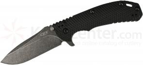 Zero Tolerance 0560BW Folding 3.75 inch ELMAX Blackwash Blade, Black G10 and Titanium Handles