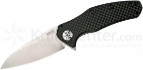 Zero Tolerance 0770CF Assisted 3.25 inch Elmax Blade, Carbon Fiber Handles