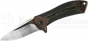 Zero Tolerance Rexford 0801CF Folding Knife 3.5 inch M390 Blade, Titanium Handles with Carbon Fiber Inserts