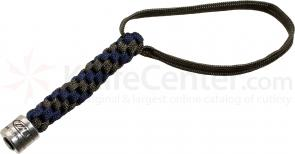 Zero Tolerance Gray/Blue Lanyard with Pewter ZT Bead