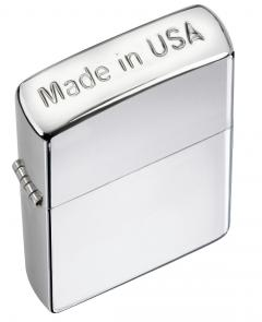 Zippo Made in USA Crown Stamp High Polish Chrome