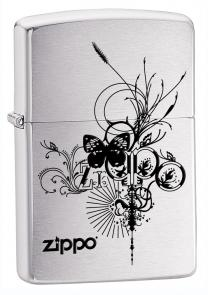 Zippo Butterfly, Brushed Chrome Classic