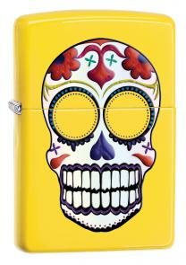 Zippo Day of the Dead, Lemon Matte Classic