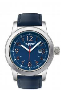 Zippo Watch Blue Face / Blue Leather Band