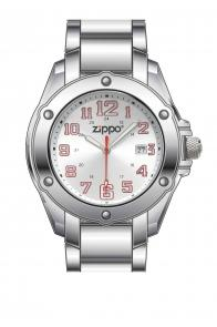 Zippo Watch Silver Face / Stainless Steel Band