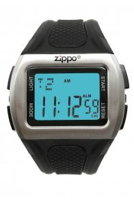 Zippo Watch Digital / Black Polyurethane Band