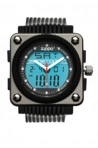 Zippo Watch Digital-Analog / Black Polyurethane Band