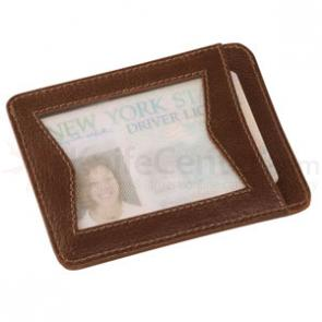 Zippo® ID Card Case, Brown Leather