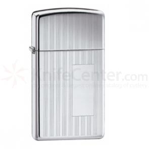 Zippo® High Polish Chrome, Slim Ribbon