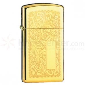 Zippo Venetian Design, Slim, High Polish Brass