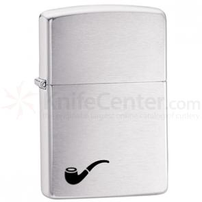 Zippo Pipe Lighter, Brushed Chrome Classic