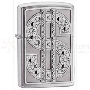 Zippo Bling Emblem, High Polish Chrome Classic