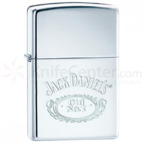 Zippo® High Polish Chrome, Jack Daniel's