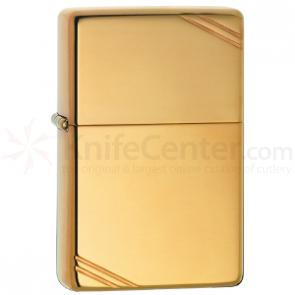 Zippo High Polish Brass, Vintage w/ Slashes