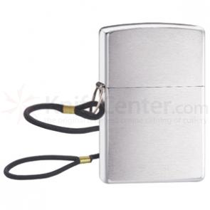 Zippo Lossproof w/ Loop and Lanyard, Brushed Chrome Classic